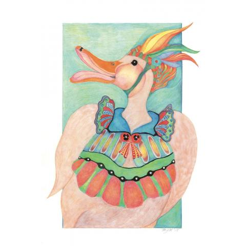 Giclee Print: Clemmie Duck