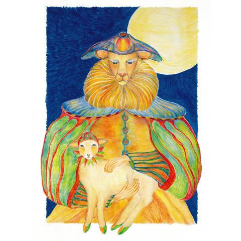 Giclee Print: The Lion Walks with the Lamb