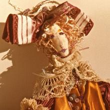 1983: Dimensional Work - Venetian Figure from The Carnival Collection - Private Collection