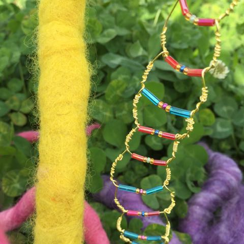 Wee Beaded Wire Ladder